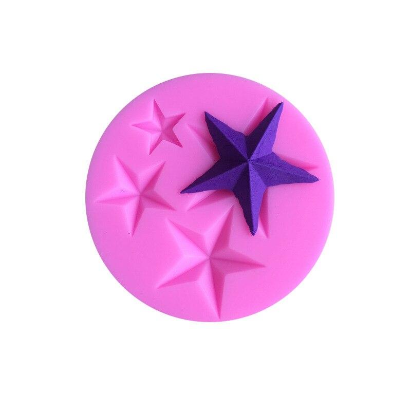 Cinco-estrella Fondant molde de silicona para pastel de caramelo galletas moldes de magdalenas herramientas de decoración para hornear molde para galletas 230