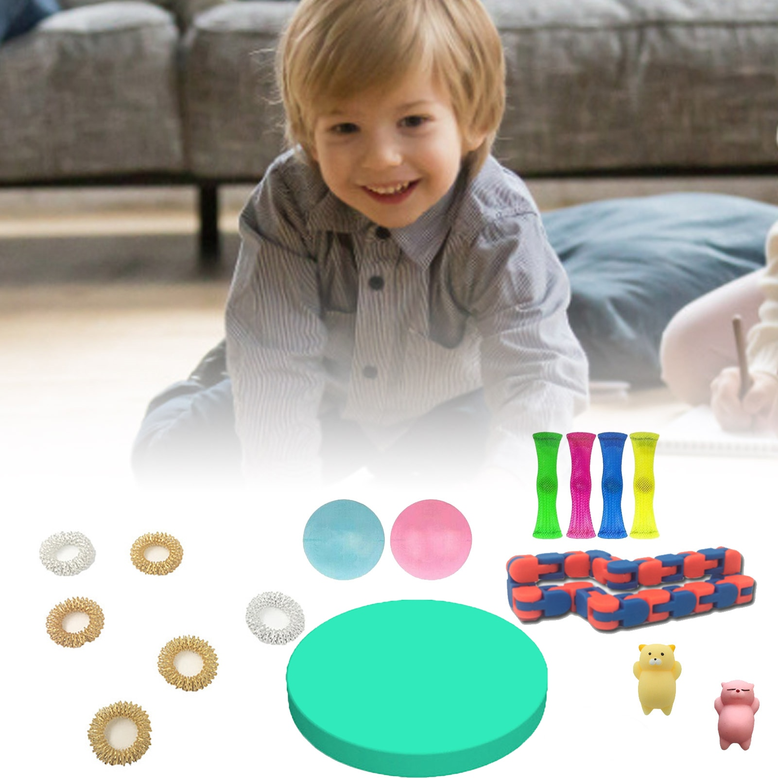 25PCS Stress-relieving Toys Decompressive Sensory Toy Set Educational Decompression Toys Autism Anxiety Relief Stress Bubble enlarge