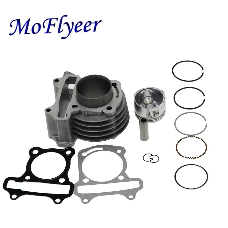 Moflyeer gy6 39mm 44mm 47mm 50mm diâmetro grande conjunto anel de pistão do cilindro kit para scooter ciclomotor 139qmb gy6 50 60 80 100 cc