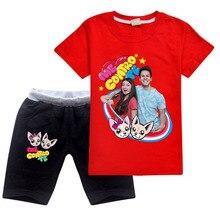 2020 Summer Cute Me Contro Te T-shirt and Shorts Boys girls Casual O-neck Tee Shirt Cozy Short Sweatpants Children Clothing