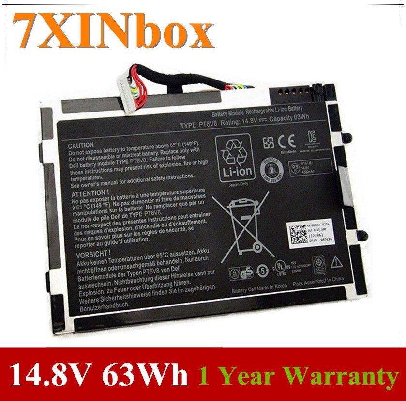 7XINbox 14,8 V 63Wh 4200mAh Оригинальный аккумулятор для ноутбука 8P6X6 P06T PT6V8 T7YJR для Dell Alienware M11x M14x R1 R2 R3 08P6X6
