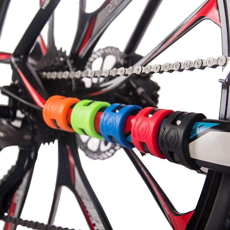 Protetor de corrente de bicicleta adesivo mountain bike anti-colisão proteção de borracha corrente impermeável bicicleta quadro protetor adesivo acc