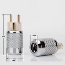 WCF2 TEG Hifi углеродное волокно, позолоченный европейский стандарт, штепсельная вилка переменного тока, штепсельная вилка IEC, самодельный адаптер для сетевого кабеля питания