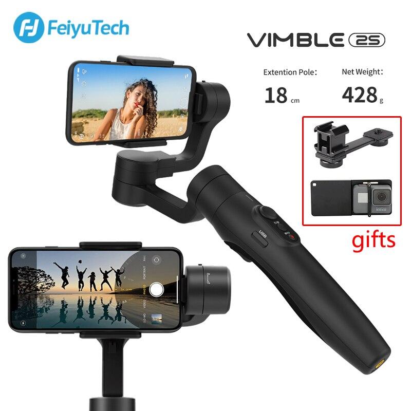 FeiyuTech Vimble 2 S استقرار 3-المحور يده Gimbal مع تمديد القطب ل فون سامسونج هواوي الهاتف الذكي Vimble 2 S Gimbal