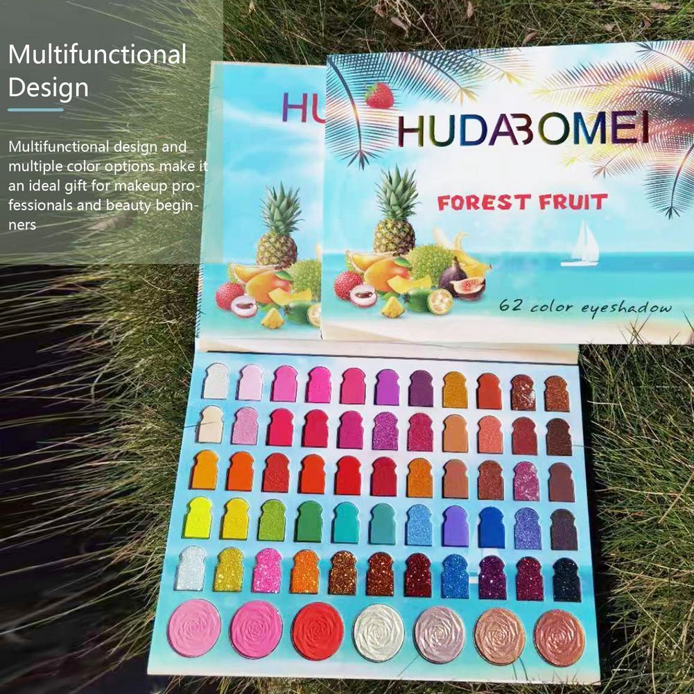 62 Color Matte Eyeshadow Palette Glitter Eye Shadow Waterproof Long Lasting Make Up Pallet Shimmer Fashion Women Beauty Eyes