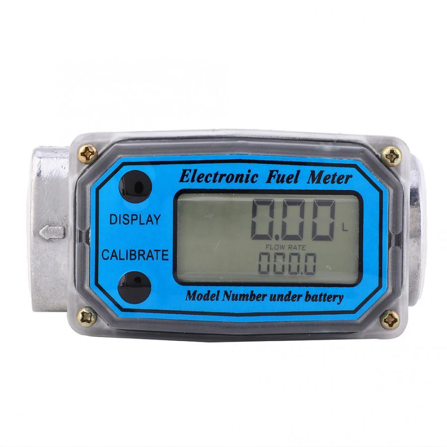 Mini medidor de flujo de turbina Digital 15-120L probador de flujo de combustible NPT Sensor indicador contador herramientas de medición de flujo de agua líquida