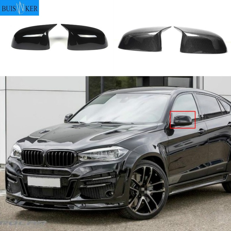 2014-2020 1 Pair Replacement Carbon Mirror Cover For Bmw X5 G05 X6 G06 X3 G01 X4 G02 ABS F15 F16 F25 F26