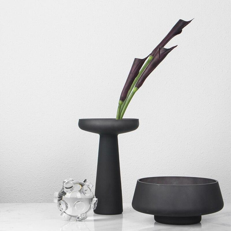 Jarrón nórdico geométrico para casa, jarrón moderno con arreglo de flor minimalista,...