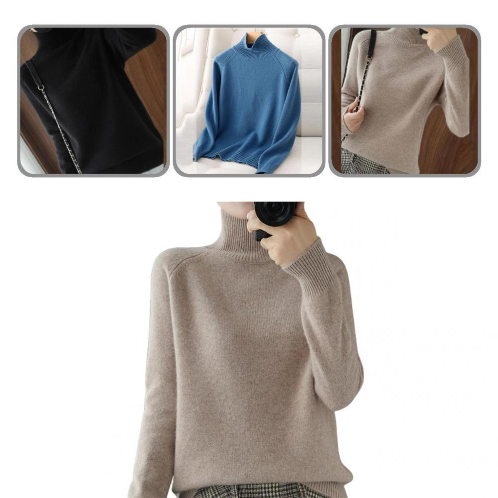 Элегантный отличный приятный на ощупь базовый свитер, универсальный осенний свитер, очень плотный Повседневный свитер
