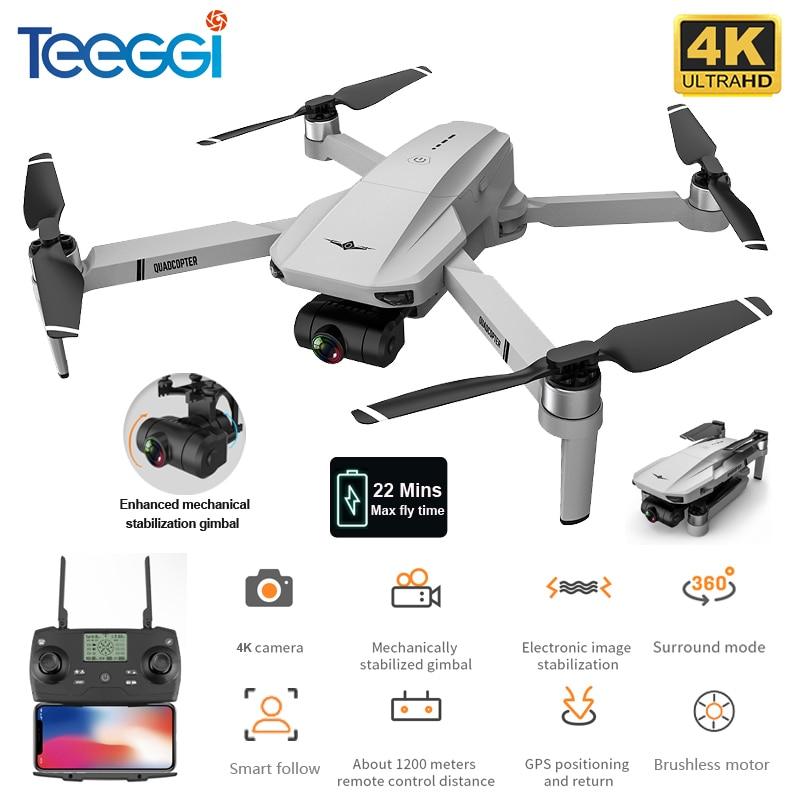 Teeggi KF102 Newst GPS Drone 4K Profesional with Camera HD 2-Axis Anti-Shake Gimbal WiFi FPV RC Quadcopter Brushless Dron