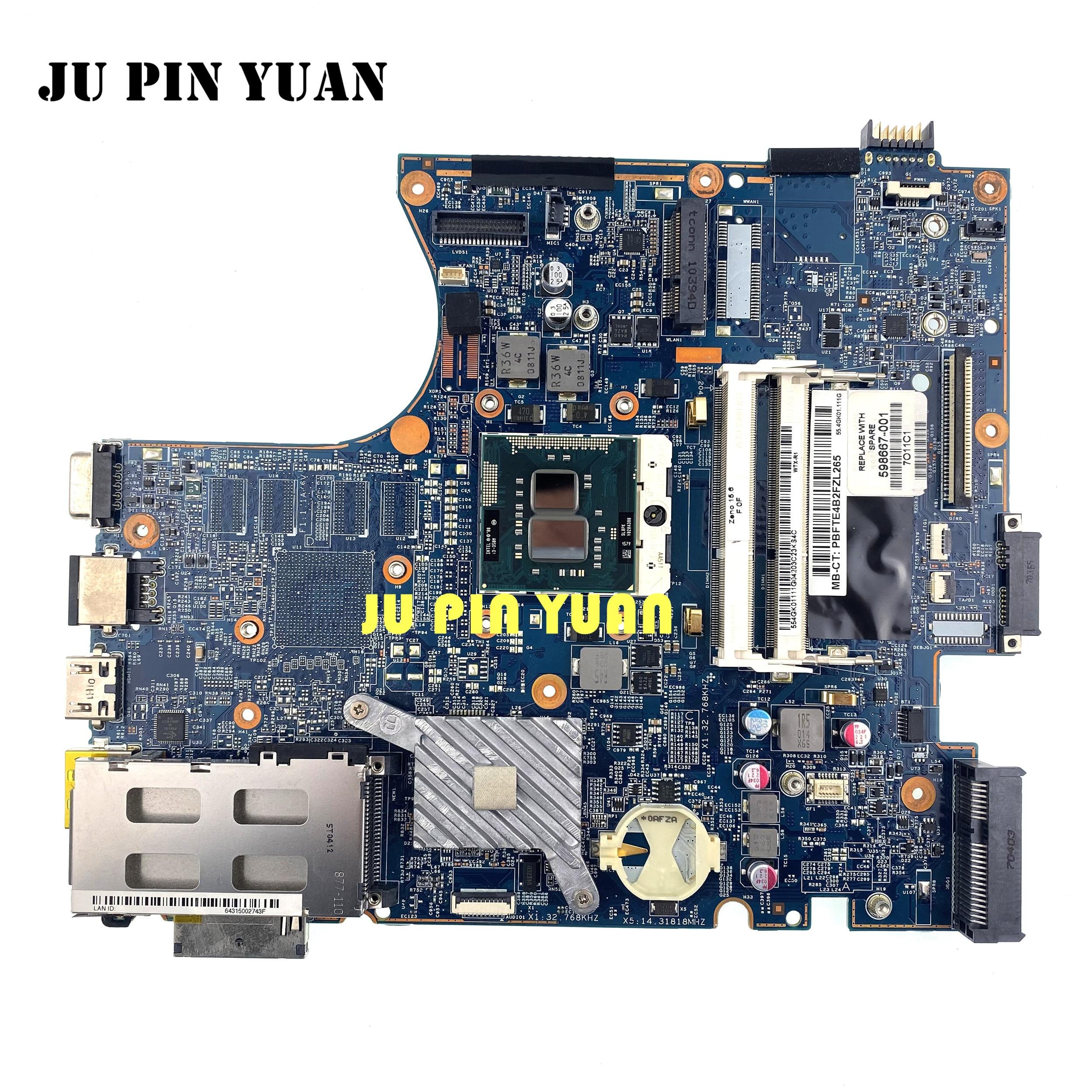 Для ноутбука hp ProBook 4520S 4720S 598667-001 материнская плата 48.4gk06. 041 материнская плата бесплатно Процессор I3 все функции полностью протестированы