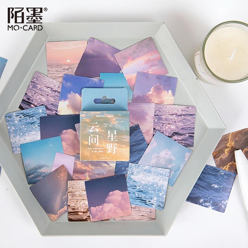 46 шт./коркор. Небесный и океан DIY клейкие наклейки для дневника Канцелярские Декоративные наклейки