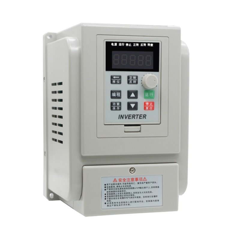 AC220V 2.2kW مرحلة واحدة VFD محول تردد متغير قابل للتعديل محول لسرعة المحرك عاكس لتردد التحكم