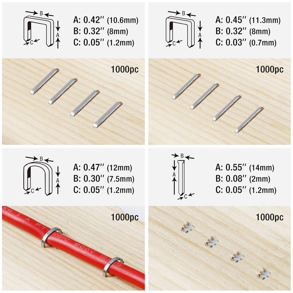 Pistola per punti metallici 4 in 1 per decorazioni domestiche fai da - Utensili manuali - Fotografia 4