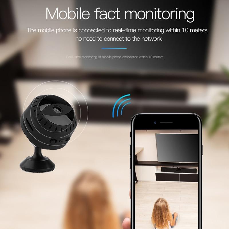 HD 1080P HD Mini Camera Wifi Night Vision Security Video Surveillance App Remote Viewing Portable Ou