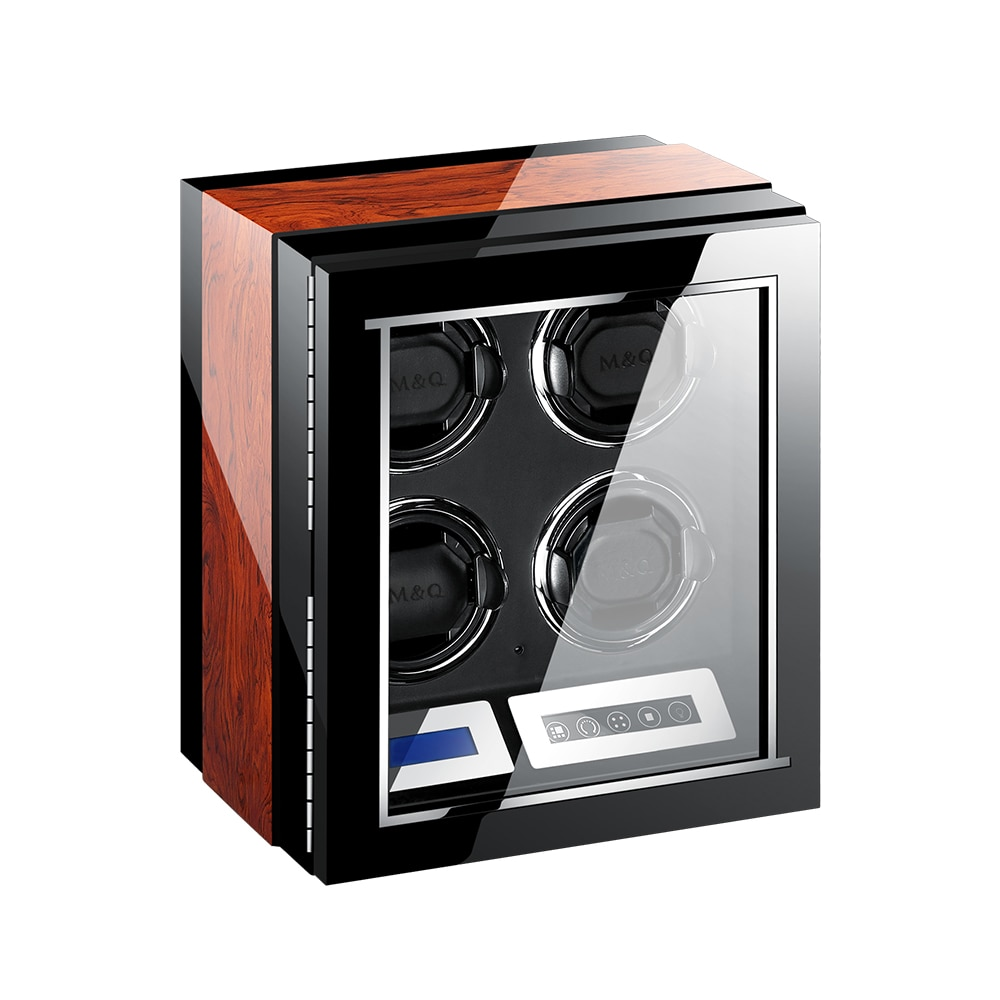 MELANCY High Quality Watch Winder for Automatic 2 4 6 9 12 24 Slot Watches with Mabuchi Motor LCD Touch Screen Wooden Watch Box enlarge