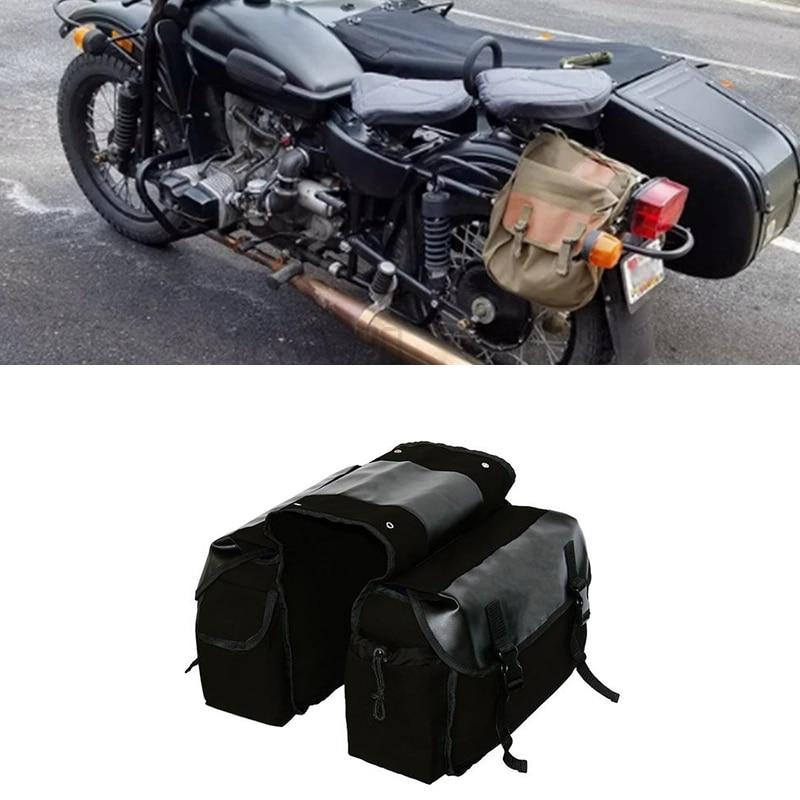 New Upgraded Travel Motorcycle Saddle Bag Motorcycle Canvas Waterproof Luggage Side Tool Bag Motorcy