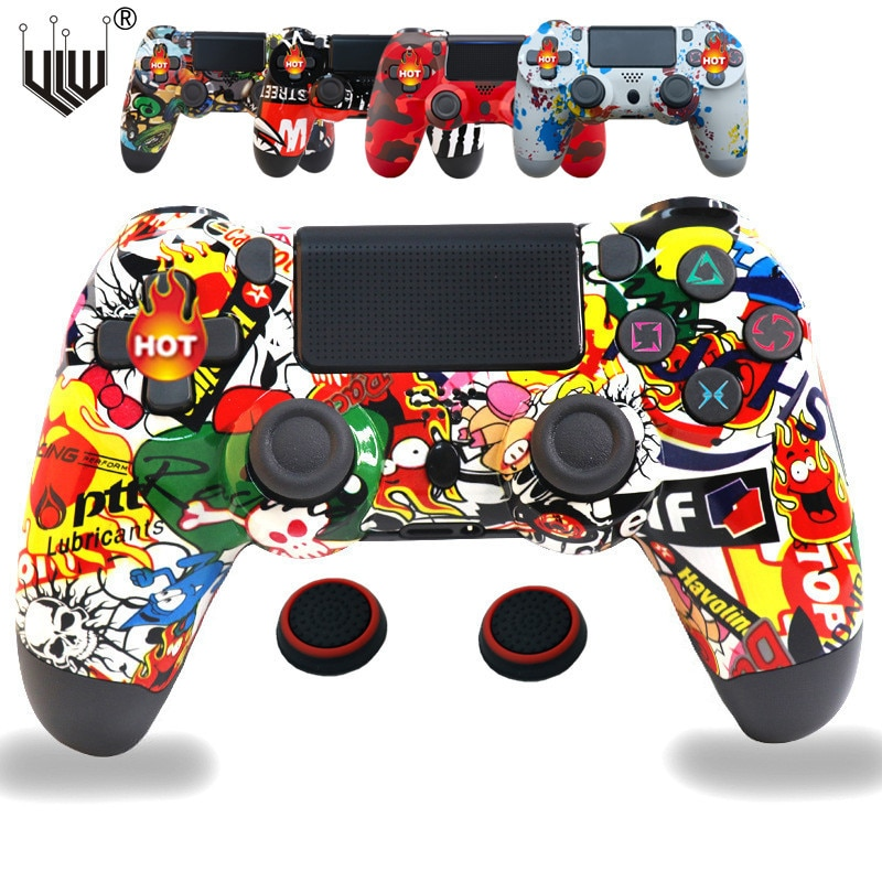 30Colors Bluetooth Double Vibration Controller For PS4 PS3 Wireless Gamepad Joystick For PS4 Game Console 6Axis Joypad Share Key