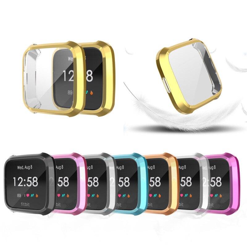Carcasa de reloj Tpu suave de 8 colores, carcasa protectora de pantalla, accesorios para reloj inteligente Fitbit Versa Lite Band