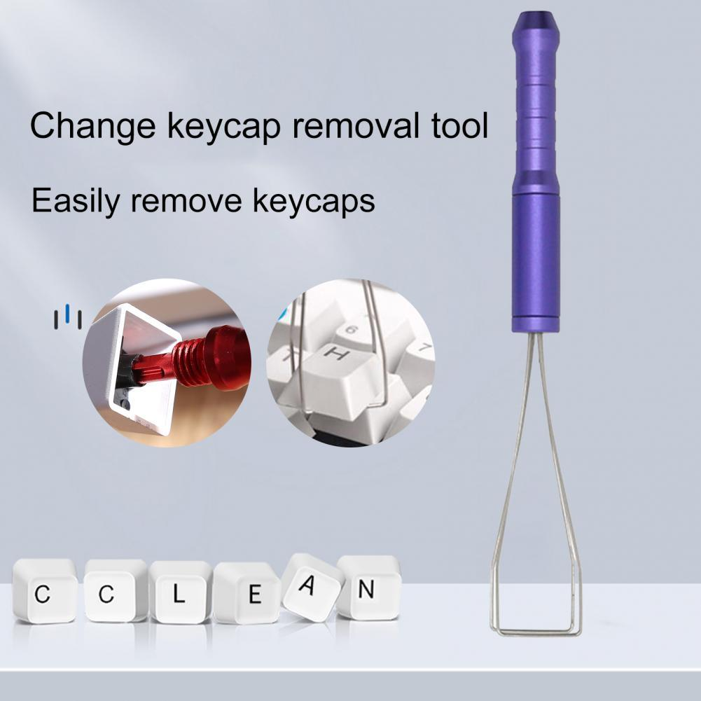 Three-section Type Key Remover Portable Easy to Use Metal Keyboard Key Cap Puller for Mechanical Keyboard lonati l462 l472k socks 1998 2000 year machine use keyboard 0430019