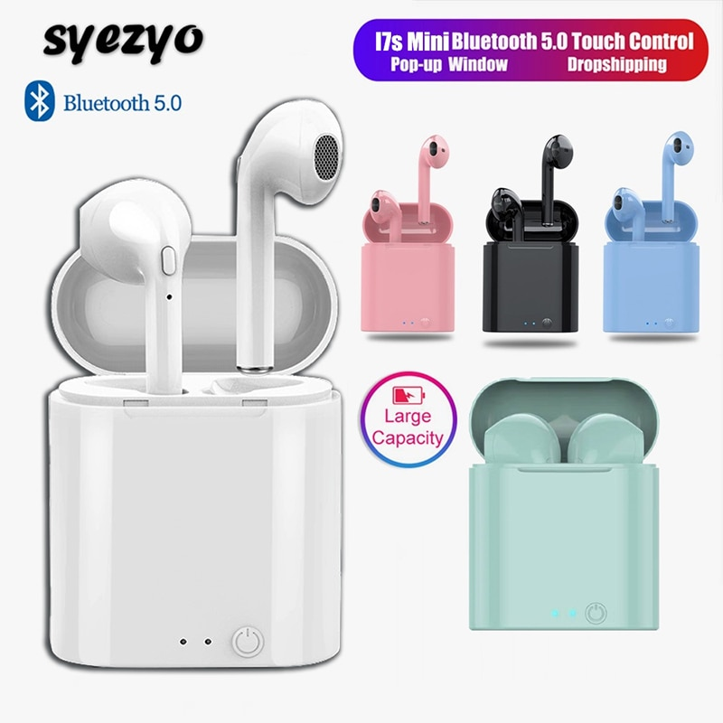 I7s TWS Bluetooth Kopfhörer Mini Sport Headset Wasserdichte Ohrhörer Musik Ohrhörer Für Huawei Iphone Xiaomi Drahtlose Kopfhörer