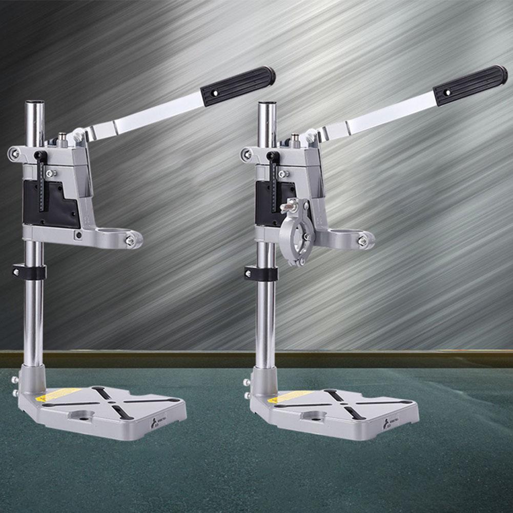 Support de presse de perceuse de poste de travail support de perceuse de bureau réglable outil de réparation de Base en aluminium multifonction