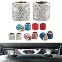 4pcs universal headrest collar bling rhinestone sparkling crystal car seat headrest decoration car styling car interior decor