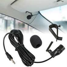 Профессиональный автомобильный аудиомикрофон 3 м, разъем 3,5 мм с зажимом, стерео микрофон, мини проводной внешний микрофон для автомобиля, DVD...