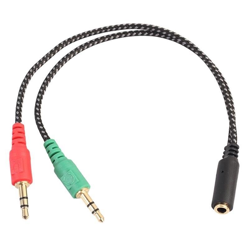 Splitter per cuffie per Computer, adattatore per cuffie per PC Audio e microfono, 3.5mm femmina a doppio 3.5mm maschio
