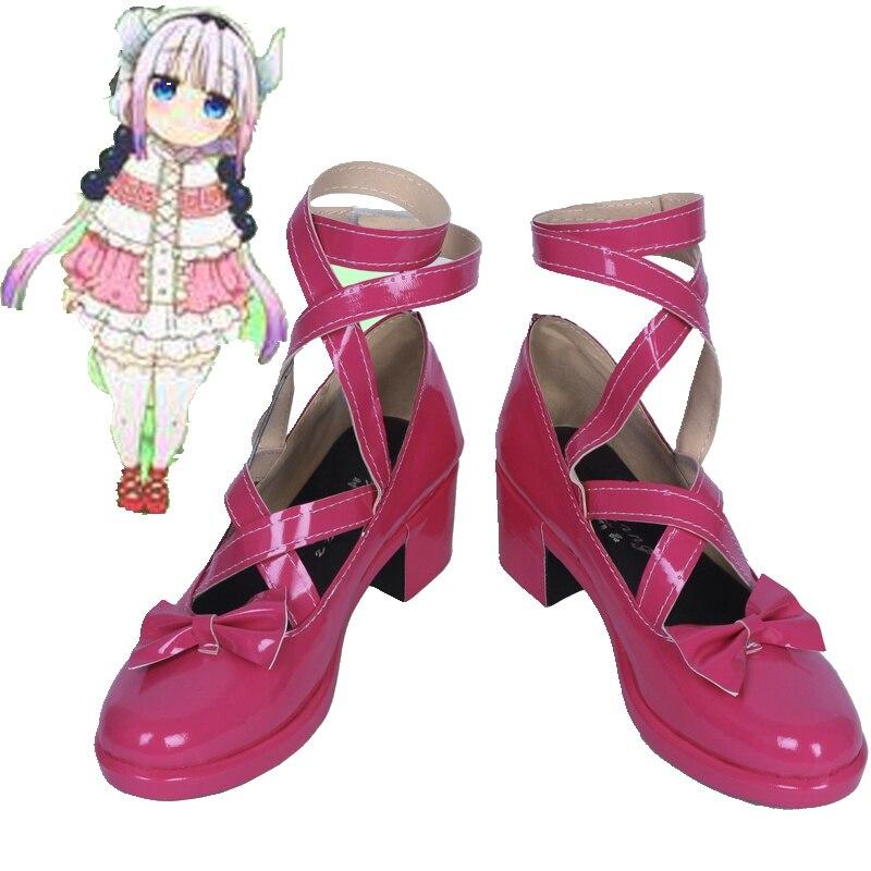 كوسبلاي تنين مارسة كوباياشي ، أحذية كوسبلاي KannaKamui ، مصنوعة حسب الطلب ، للجنسين