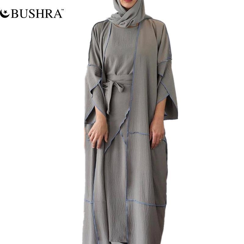 Женское турецкое платье доступной Abaya в Дубае, мусульманские комплекты из 4 предметов, хиджаб, мусульманский Африканский мусульманский кост...