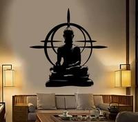 Vinyl Wall Sticker Buddha Chakra Mandala Mantra Meditation Home Art Deco Yoga Room Decoration Sticker Mural GXL14