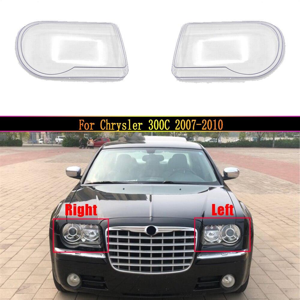 سيارة عدسة المصباح الأمامي لكرايسلر 300C 2007 2008 2009 2010 كشافات غطاء استبدال السيارات قذيفة غطاء