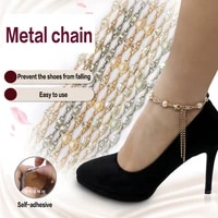women shoelaces for high heels shoe belt pearl heels band ankle holding loose anti skid bundle tie straps band shoes decoration