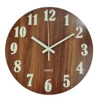 creative simple wall clock wood silent bedroom digital living room wall clock modern design horloge murale home decoration dg50w