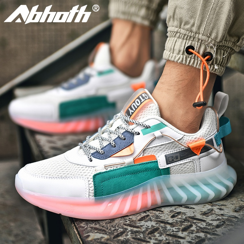 Abhoth 2021 распродажа мужской повседневной обуви модная весенне-осенняя мягкая и удобная молодежная трендовая износостойкая черная сетчатая п...