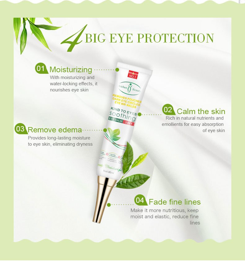 Multi-effect Anti Wrinkle Eye Cream Remove Dark Circles Improve Eye Bags Fine Lines Anti Puffiness Dullness Repair Eye Skin Care