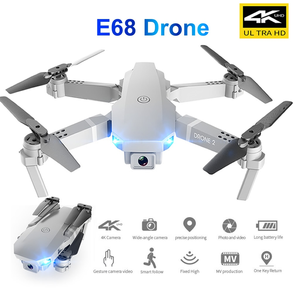 RC E68 Folding Unmanned Drone UAV Dual Camera Head 4K for Aerial Photography Four-Axis Aircraft Remote Control drone ls11 hd aerial photography 4k pixel dual camera four axis aircraft toy remote control aircraft