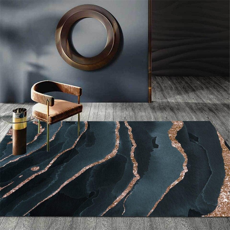 سجادة مجردة من الرخام الرمادي والأزرق والأسود ، لطاولة القهوة ، غرفة المعيشة ، الشمال ، غرفة النوم ، قابلة للغسل ، أرضية الحمام