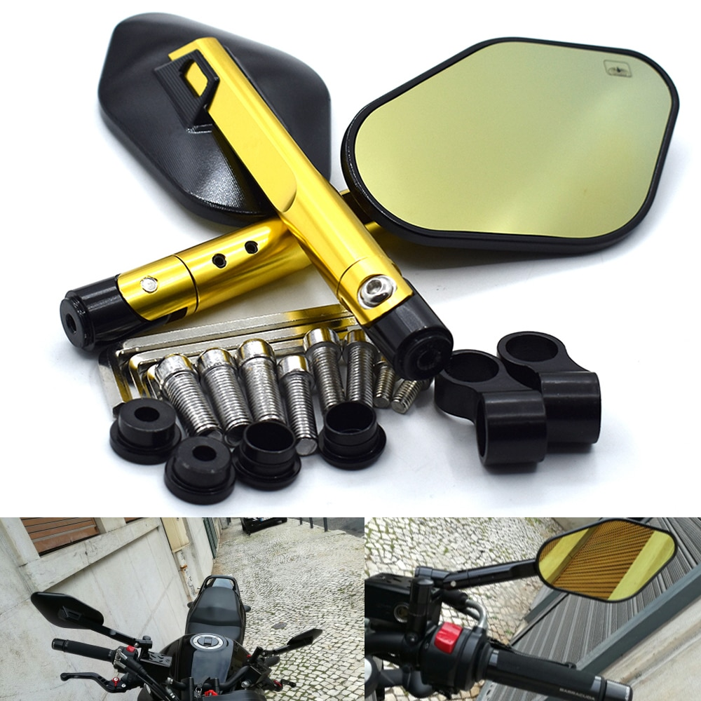 Universal 8mm 10mm Side mirror Aluminum CNC Motorcycle Rearview Mirror For Rizoma  YAMAHA MT-10 TMAX500 MT-07 MT-09 Honda BMW