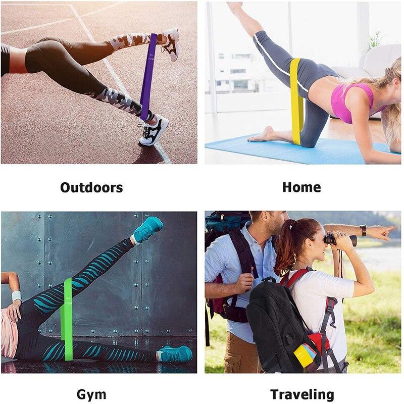 Yoga Fitness Rubber Bands Fitness Elastic Bands 5 Levels Mini Resistance Training Gum Pilates Sport Crossfit Workout Equipment