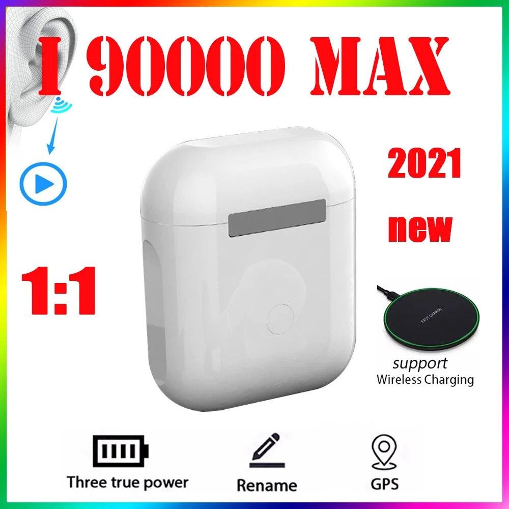 Original i90000 MAX Tws 1:1 GPS nombre auriculares Bluetooth inalámbricos PK i7...