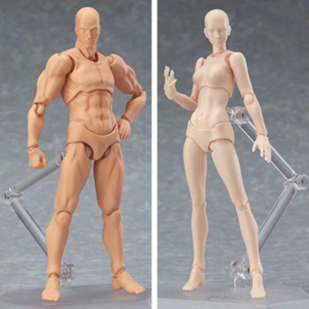 Figuras de acción de juguete de 13cm, figura articulada movible para hombre y mujer, figuras de cuerpo de PVC, modelo de maniquí, boceto de arte, figura de dibujo