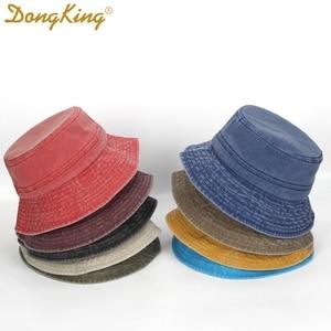 DongKing Classic Bucket Hat Washed Cotton Stitching Foldable Fisherman Panama Sun Hats Men Women Unisex Caps 9 Colors Gorros