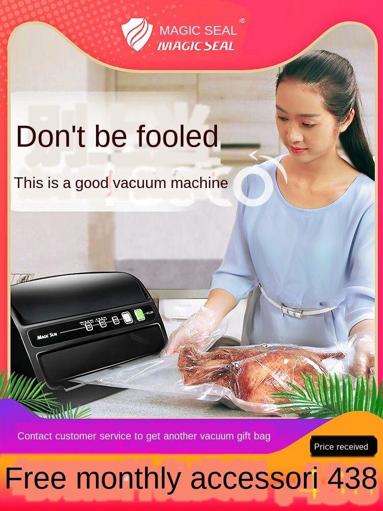 Máquina de sellado al vacío de alimentos máquina de embalaje pequeña máquina de embalaje de plástico para el hogar compresor comercial completamente automático