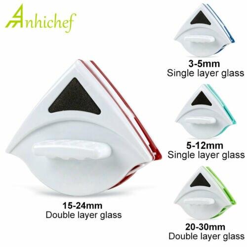 Limpador de escova de vidro da janela magnética lados dobro ferramentas de limpeza de superfície escova magnética para lavar janelas