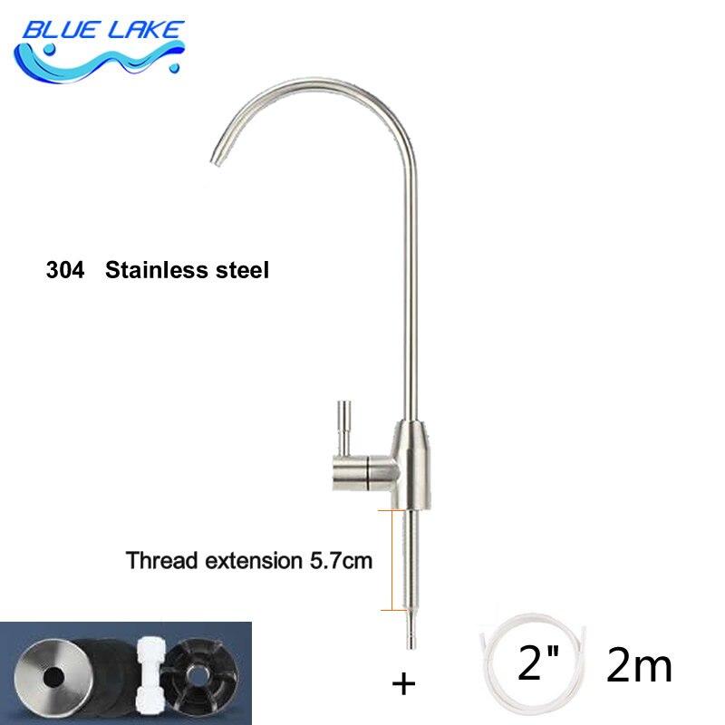 صنبور منقي مياه ، واجهة 2 نقطة ، 304 الفولاذ المقاوم للصدأ ، خيط مطول ، لطاولات الرخام ، أجزاء منقي مياه