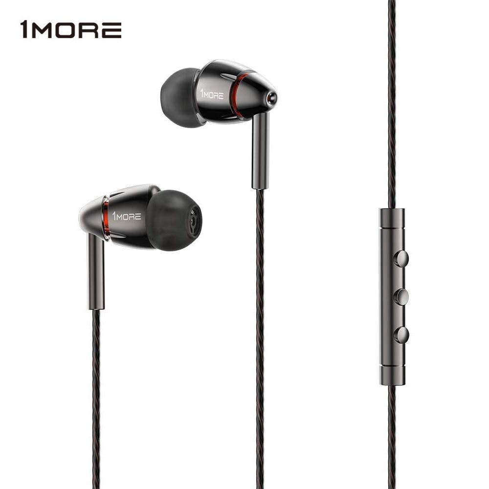 1 MORE-سماعة رأس E1010 Hi-Res ، سماعات أذن مع ميكروفون ، مشغل رباعي ، Hi-Res ، لـ Apple Android Xiaomi