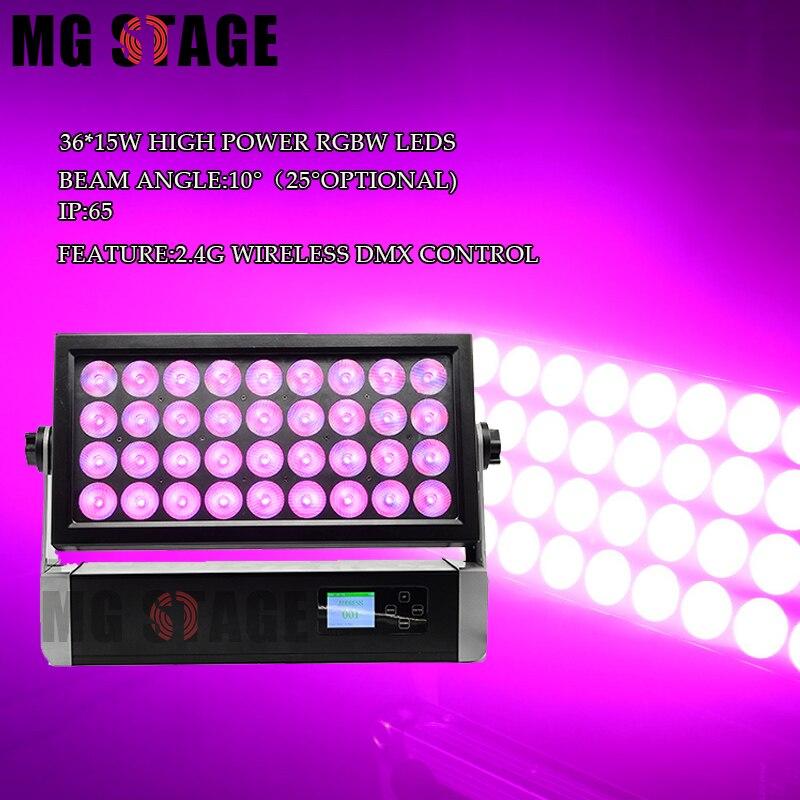 SGM P5 وصول جديد 36x15 واط RGBW 4 في 1 RDN اللاسلكية ip65 وحدة إضاءة led جداريّة غسالة