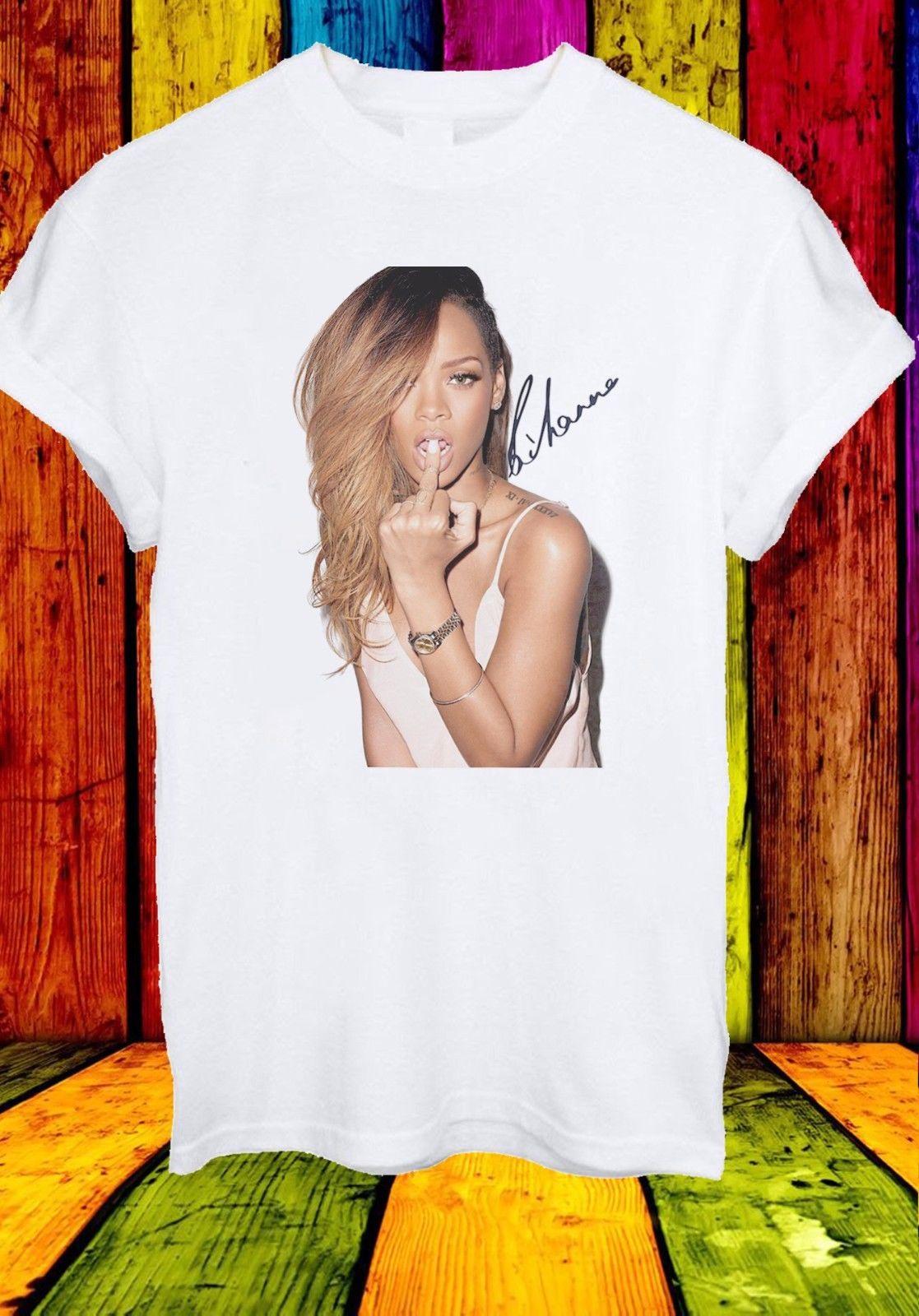 Camiseta Robyn Rihanna Fenty Con álbum de cantante de Barbados, camiseta Unisex, ropa de calle para hombre y mujer, camiseta de gimnasio de Hip-Hop